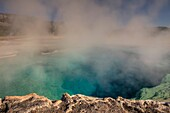 Sapphire Pool, Biscuit Basin, Yellowstone National Park, Wyoming, USA