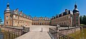 The picturesque castle of Pierre-de-Bresse, Burgundy, France, Europe