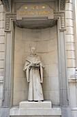 Statue of a friar outside number 4 Austin Friars EC2, London, UK