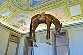 Italy, Piedmont, Rivoli, Rivoli castle, Contemporary Art Museum, Maurizio Cattelan artwork
