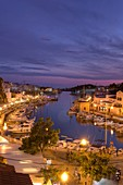 Spain, Balearic Islands, Menorca, Ciutadella, Historic Old Harbour and Old City centre