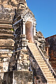 Thailand, Ayutthaya, old Chedi at the ruins Wat Phra Si Sanphet Temple