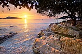 Thailand, Phuket Island, Patong Beach, sunset time scenery
