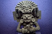 An image of a Zapotec god is displayed at the Rufino Tamayo pre-Hispanic art museum in Oaxaca, Mexico