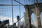 NYC Skyline from Brooklyn Bridge, with New World Trade Center