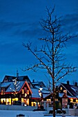 Christmas time-Laugavegar, the main shopping street of downtown Reykjavik, Iceland