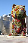 Puppy´ statue by Jeff Koons, Guggenheim Museum, Bilbao, Basque Country Spain