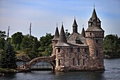 Boldt Castle stands on Heart Island in the Thousand Islands archipelago and is a major landmark and tourist attraction