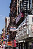 Chinatown, Shops, street scene, New York, USA
