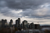 Skyline and Gray Clouds, Vancouver, Canada