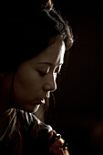 Chinese Actress Hai Qing on the set of Sacrifice (2010)