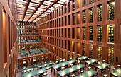 Reading rooms in the Jacob-und-Wilhelm-Grimm-Zentrum, Leseterrassen, library of the Humboldt University, university library, Berlin, Germany, Europe