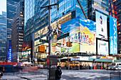 Times Square at night, Broadway, 42nd Street, Downtown Manhattan, New York City, New York, North America, USA