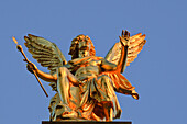 Golden angel on the top of the academy of arts, Dresden, Saxony, Germany