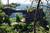 Prebischtor, Europe's biggest rock bridge, Elbe Sandstone mountains, Bohemian Switzerland, Czech Republic, Europe