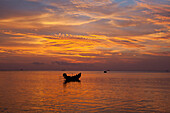 Fishing boat at Haad Yao Beach or Long Beach, Koh Phangan Island, Surat Thani Province, Thailand, Southeast Asia