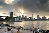 People on the water, Dumbo, Brooklyn, New York, USA