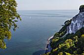 Blick über die Ostsee, Königsstuhl, Stubnitz, Halbinsel Jasmund, Nationalpark Jasmund, Insel Rügen, Mecklenburg-Vorpommern, Deutschland