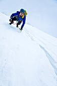 Ascenting to Piz Roseg, Upper Engadin, Canton of Grisons, Switzerland