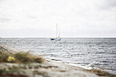Sailing boat on the swedish coast, Mollösund, Orust, Buhuslän, Sweden