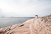 Fischerman's house on the swedish coast, granit coast, Lysekil, Buhuslaen, Sweden