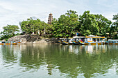 Tomb of the emperor Thien Mu with the famous pagoda, near the city of Hue, Vietnam, Asia