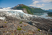 Scenic view of Shoup Glacier and Upper Shoup Bay in the Shoup Bay State Marine Park, Prince William Sound, Alaska