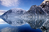 Winter scenic of Walker Cove, Misty Fjords National Monument Wilderness, Southeast, Alaska.