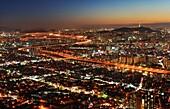 city, night scene