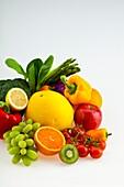 fruit, vegetables, variety