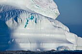 A Composite Image Of Tourists Exploring An Iceberg On Their Journey Throughout The Canadian Arctic, Nunavut, Canada
