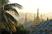 View from the Shwedagon Pagoda, Yangon, Myanmar, Burma, Asia