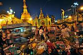 At Yangon River in the Botataung Pagoda, Yangon, Myanmar, Burma, Asia
