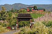 Vinery red Mountain Estate near Nyaungshwe at Inle Lake, Myanmar, Burma, Asia