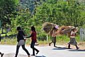 Young people near Nyaungshwe at Inle Lake, Myanmar, Burma, Asia