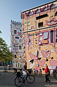 Sculptured painted house by artist James Rizzi in the Magni district, Happy Rizzi House, Brunswick, Lower Saxony, Germany