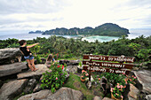View from Viewpoint, Ko Phi Phi, Andaman Sea, Thailand, Asia
