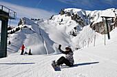 At the Idealrun, skiarea Brauneck near Lenggries, Bavarian Alps, Germany