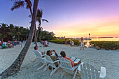 Sunset at restaurant Morada Bay, Islamorada, Florida Keys, Florida, USA