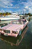 World's only boat tour in a 1986 Cadillac stretch limo, NAUTILIMO, Islamorada, Florida Keys, Florida, USA