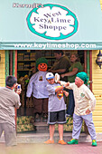 Impression in front of Key West Lime Shoppe, a famous Key Lime Pie producer, Key West, Florida Keys, USA