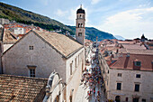 People at Sigurata Church from the City Walls, Dubrovnik, Dubrovnik-Neretva, Croatia