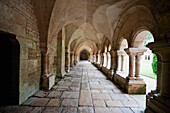 Arcade of the cloister of the Cistercian Abbey of Fontenay, Côte d'Or, France
