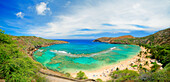Hawaii, Oahu, Seascape overlooking Hanauma Bay.
