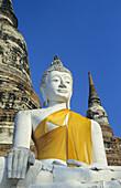 Thailand, Sukhothai Historical Park, Wat Yai Chai Mongkol, Sitting Buddha