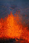 Hawaii, Big Island, Hawaii Volcanoes National Park, Kilauea Volcano eruption