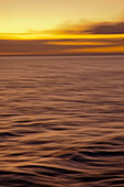 Hawaii, Maui, Ocean waves in motion and a vibrant tropical sunset.