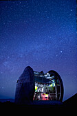 Hawaii, Big Island, Cal Tech Submilimeter, View of a starry night sky and the Milky Way.