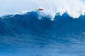 Hawaii, Maui, Peahi, Giant wave breaking at Jaws.
