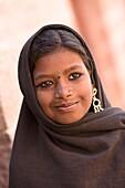 'Portrait Of Woman Wearing Headscarf; Jodhpur, India'